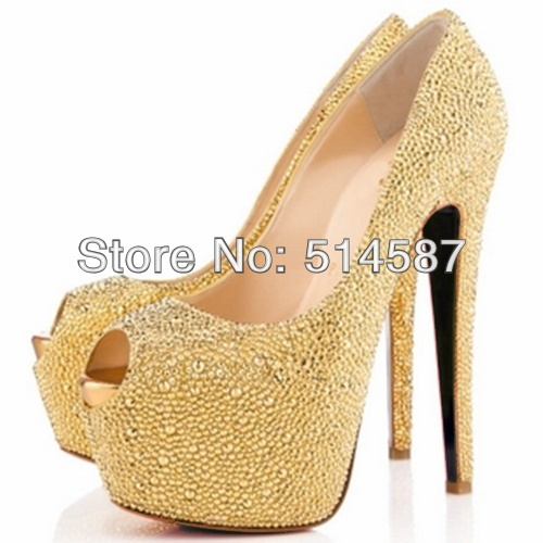 6 Inch Gold Heels t5oXBmBT