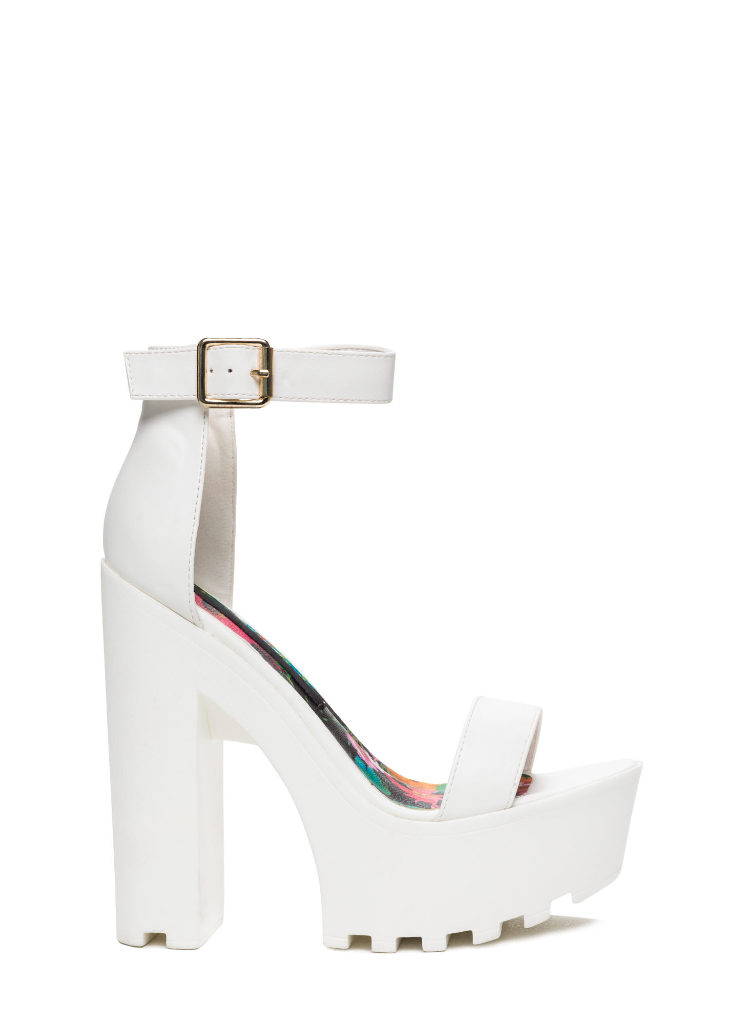 1811df5d829 All White Platform Heels - Heel Direct