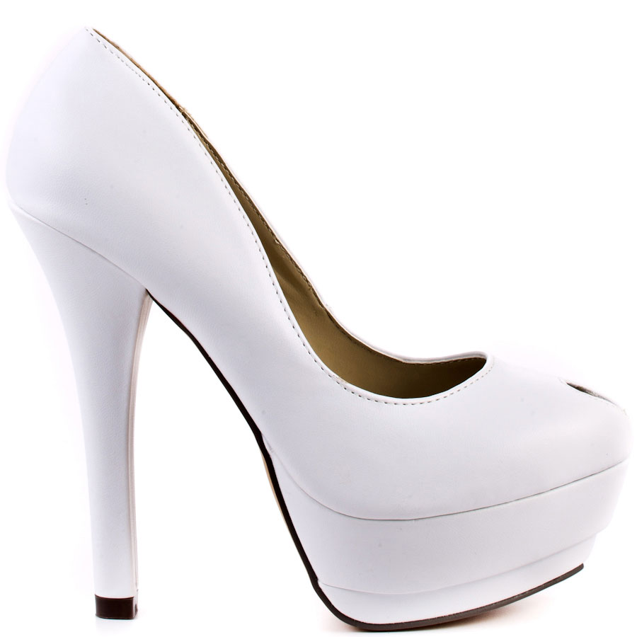 All White Platform Heels jY0zMaTE