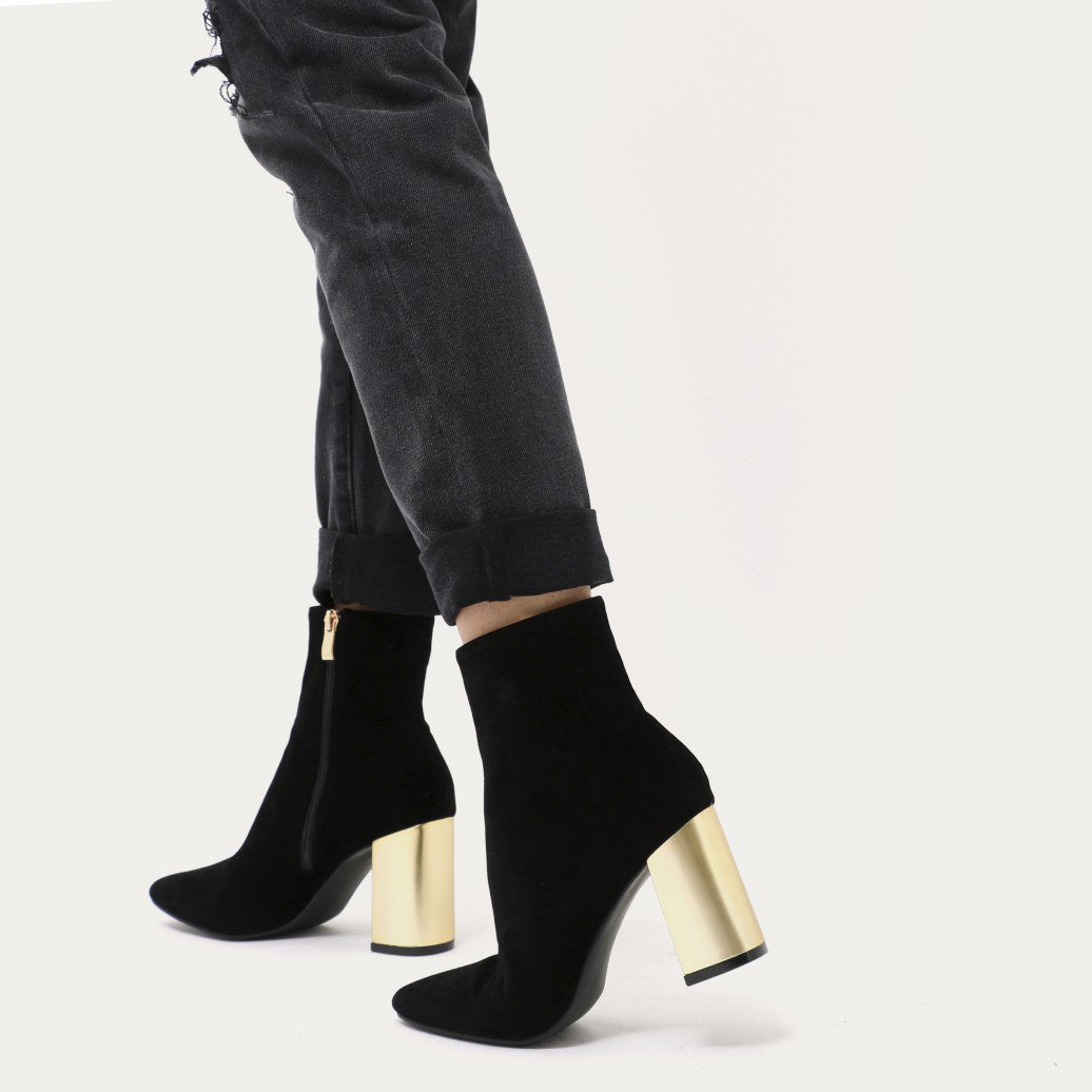 Ankle Boots With Gold Heel 4YCsDpNF