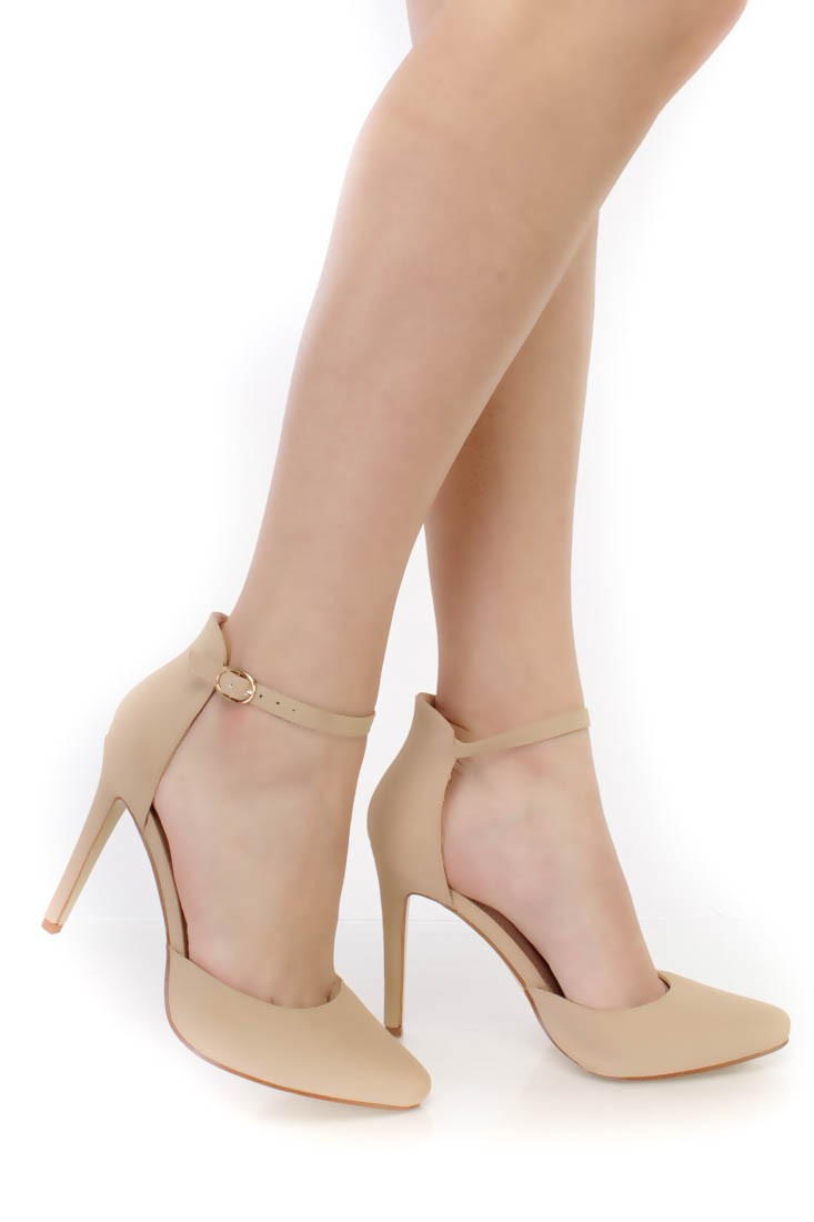 Ankle Strap Closed Toe Heels AbHqghag