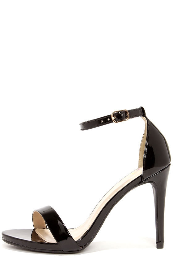 Ankle Strap Heels Black mr8A825h