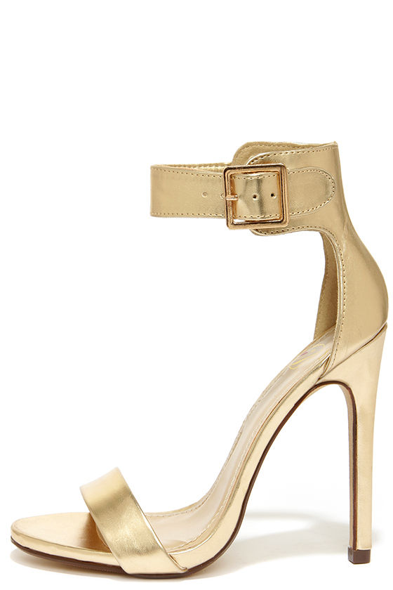 Ankle Strap Heels Gold 29W6blhB
