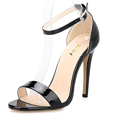 Ankle Strap Open Toe Heels d50GLCcy