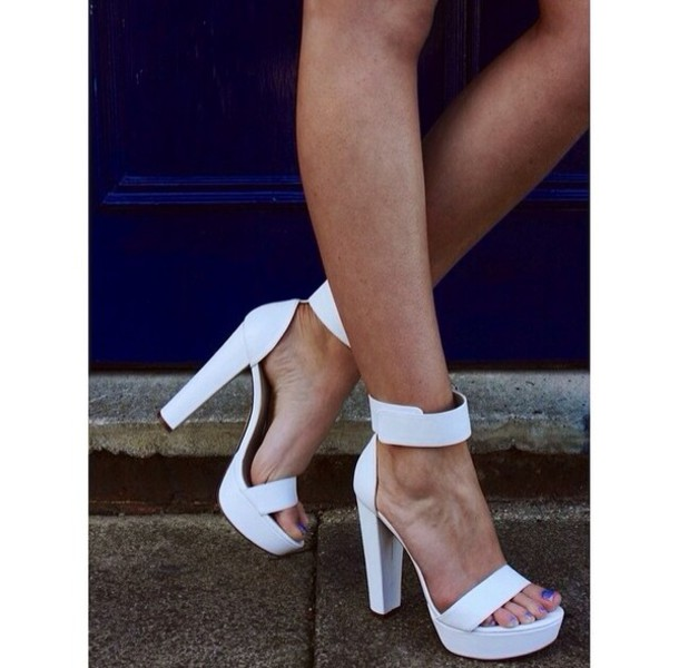 Ankle Strap Thick Heels HJk0HYI3