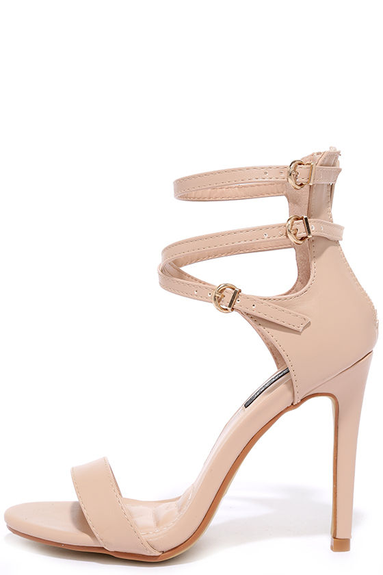 Beige Heels With Ankle Strap QrgPKvSS