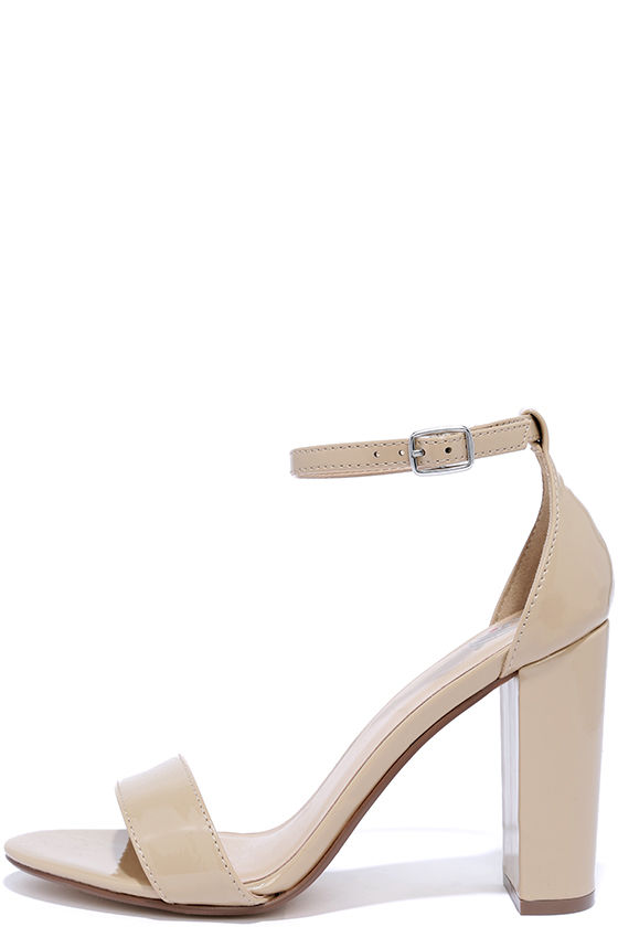 Beige Heels With Ankle Strap OuE5MHSx