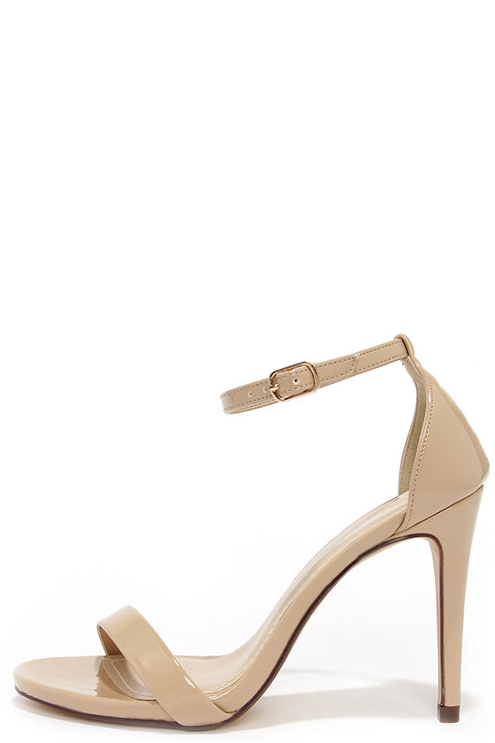 Beige Heels With Ankle Strap VqywHby1