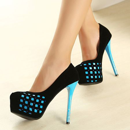 Black And Blue High Heels Fp9XNcKr