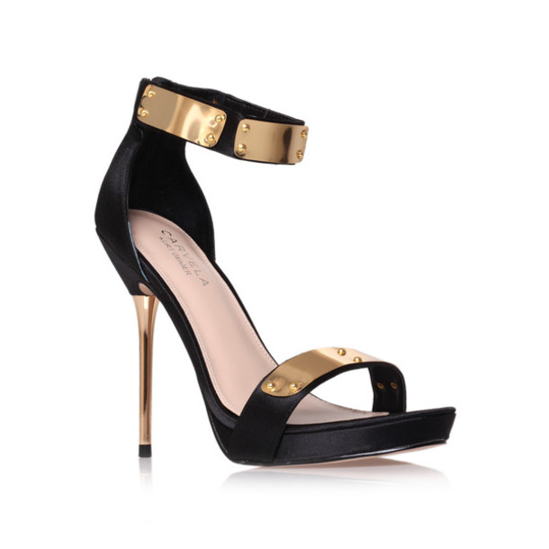 Black And Gold High Heel Shoes DT6wKaHB