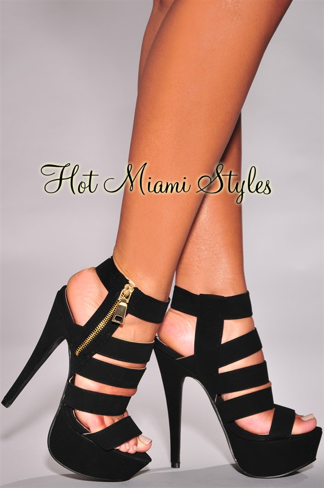 Black And Gold Strappy Heels 0GZiWVys