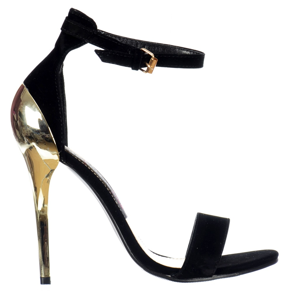 Black And Gold Strappy Heels 20yqab7N