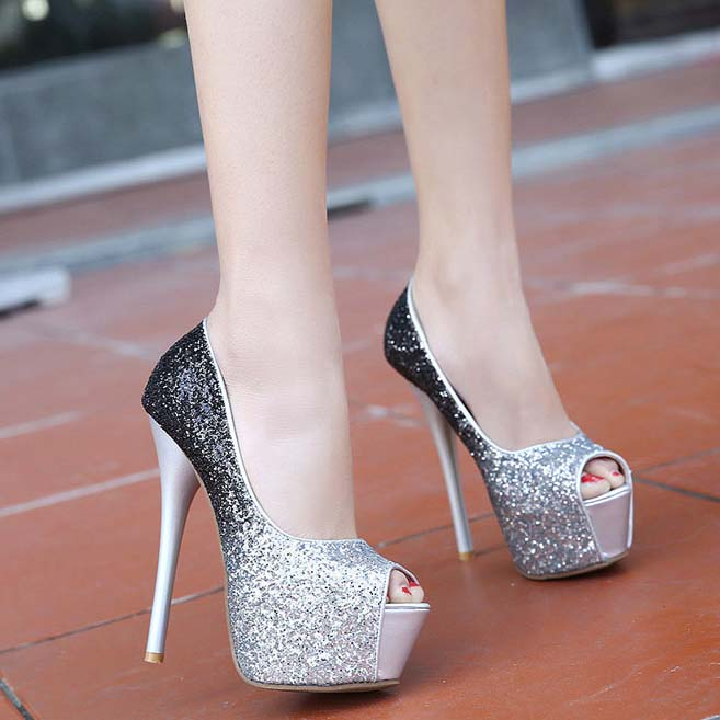 Black And Silver High Heels jZAi4O1p