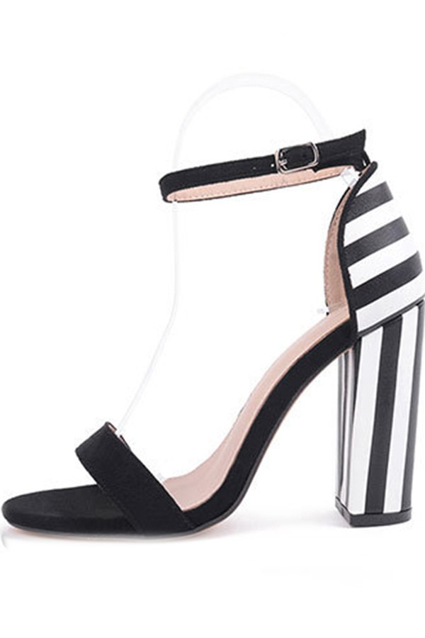 Black And White Ankle Strap Heels chwGPQOr