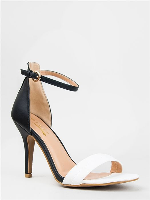 Black And White Ankle Strap Heels jClse8Tm