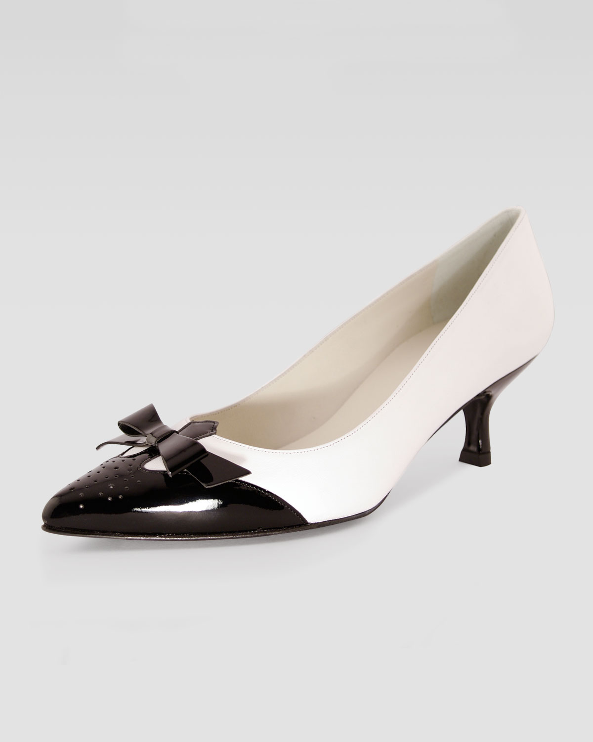 Black And White Kitten Heels 9XC2nUmo