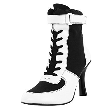 Black And White Lace Up Heels To2Zqjr6