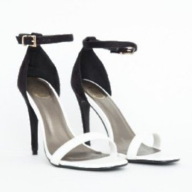 Black And White Strappy Heels cGe5CziL