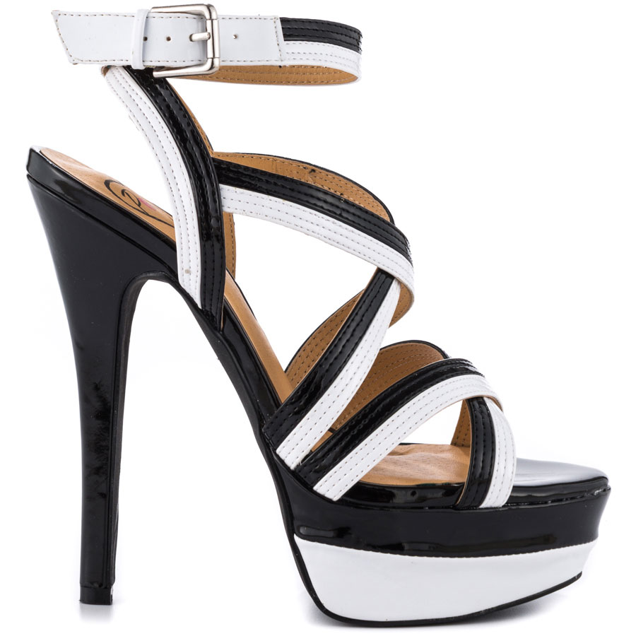 Black And White Strappy Heels JkN1WWwR