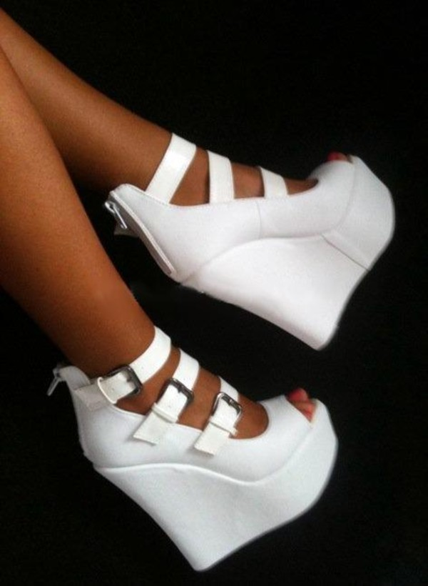 Black And White Wedge Heels UUxQxyAx