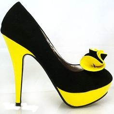 Black And Yellow Heels XmMyjB1d