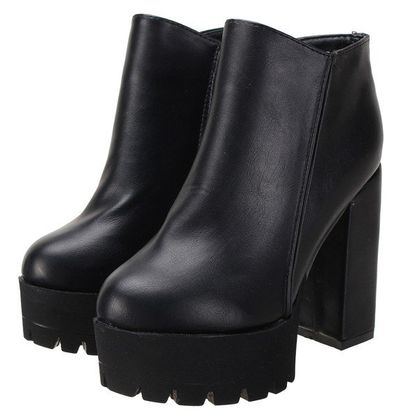 Black Booties With Chunky Heel m7PXkEO5