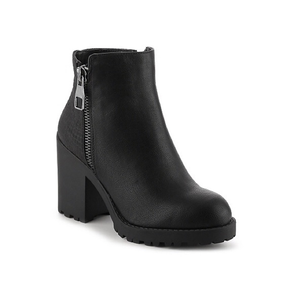 Black Booties With Chunky Heel Cqm5bf1h