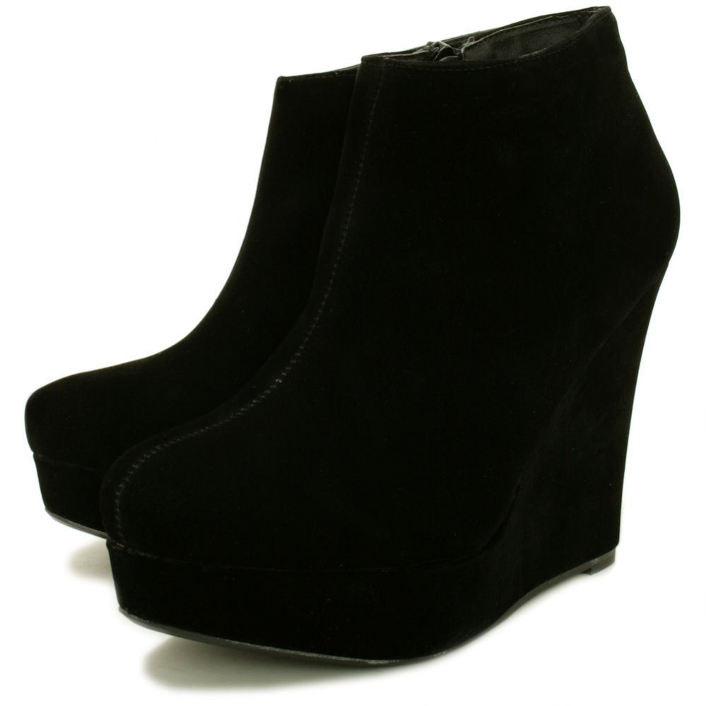 Black Boots With Wedge Heel iY2DxDT6