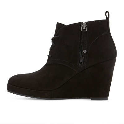 Black Boots With Wedge Heel uSukuMy2
