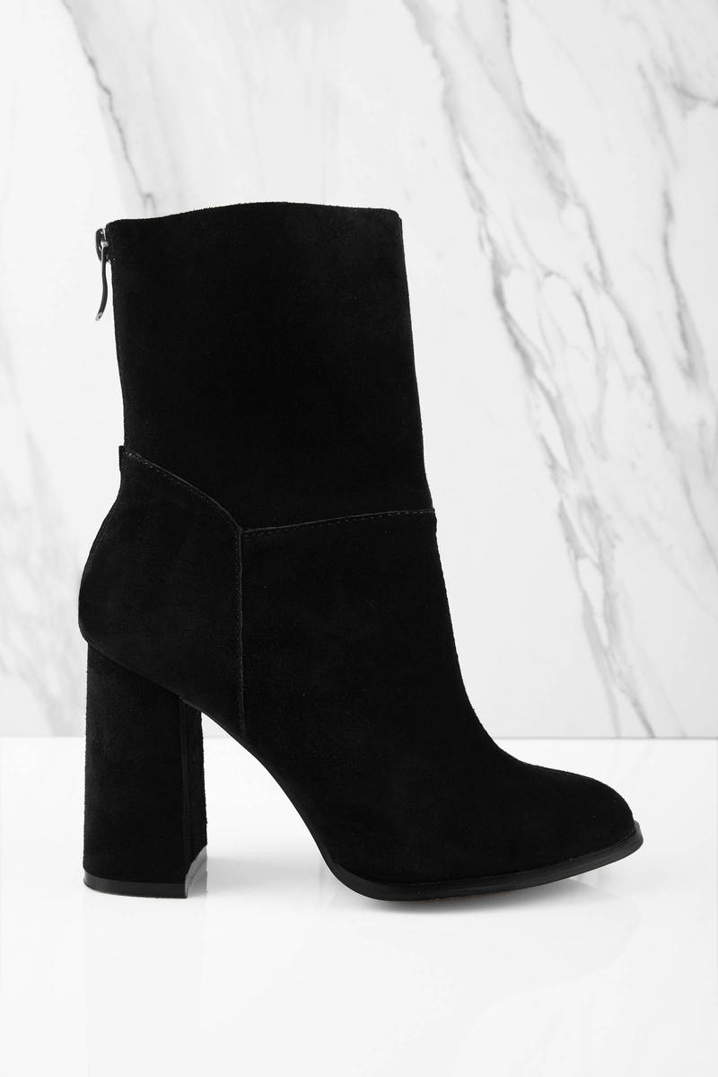 Black Chunky Heel Ankle Boots bYN8dMCQ
