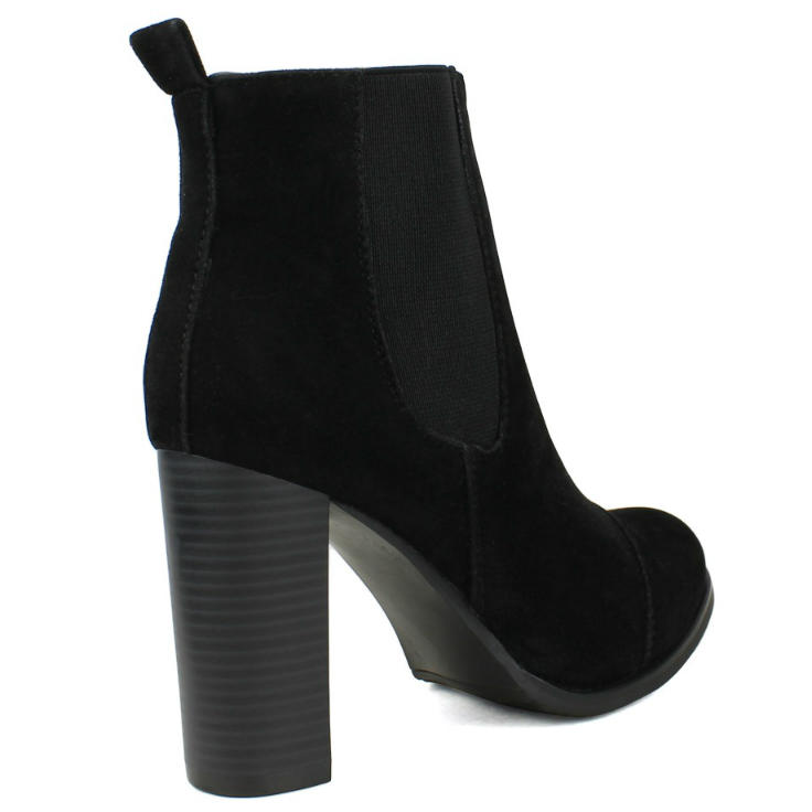 Black Chunky Heel Ankle Boots XOPMO9am
