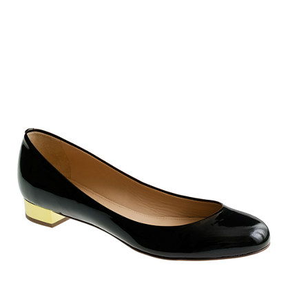 Black Flats With Gold Heel lyZIjaIa