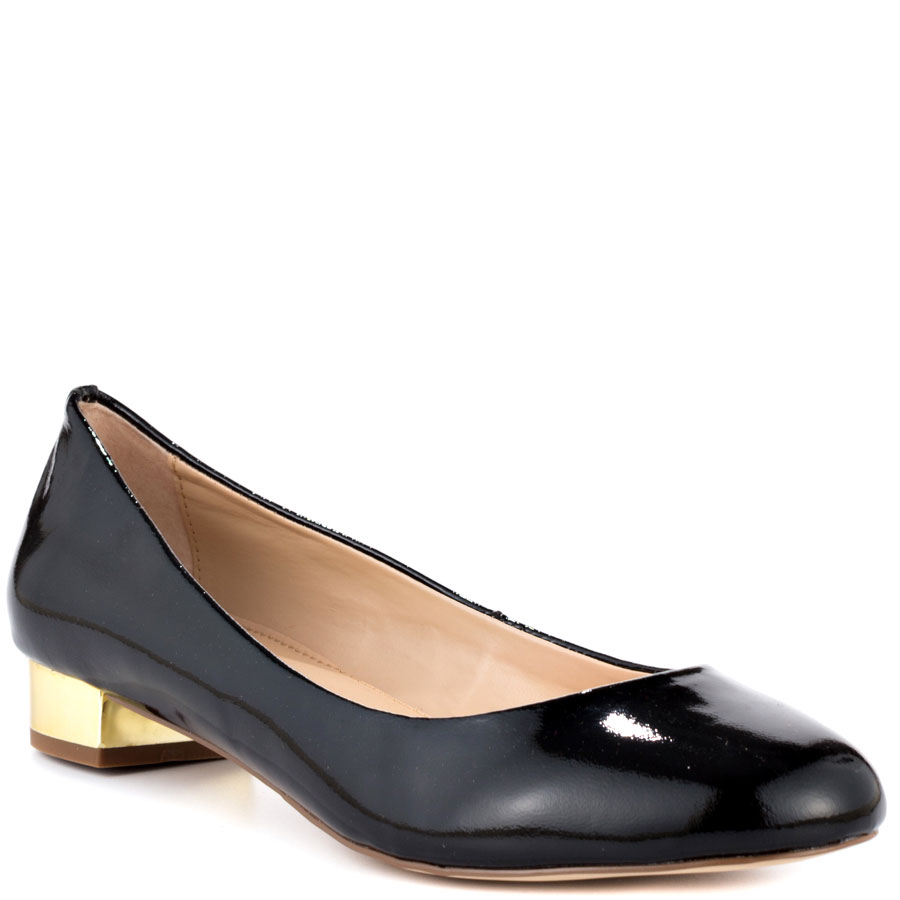 Black Flats With Gold Heel AzUzprt6