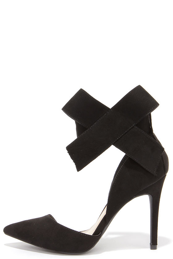 Black Heels With Bow sRH9T52H