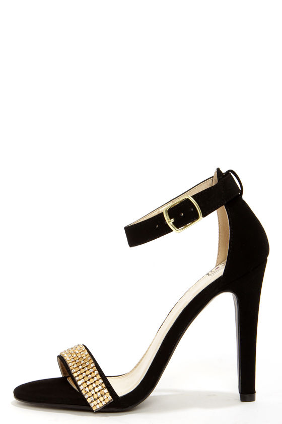 Black Heels With Gold Strap kFRI1VjW