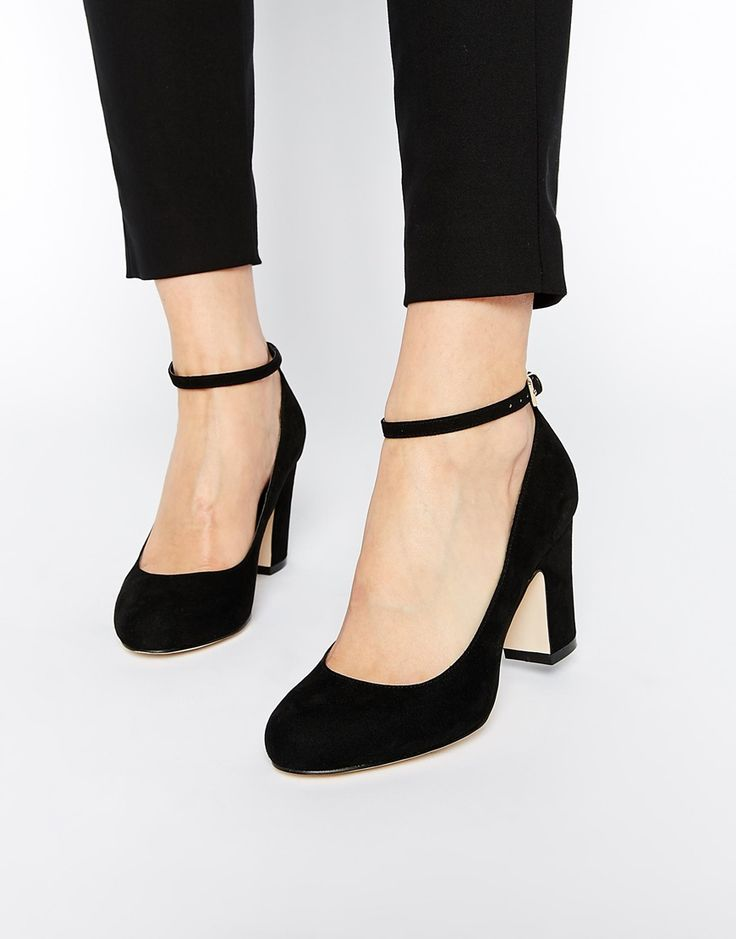 Black Heels With Thick Ankle Strap IXatZI6n