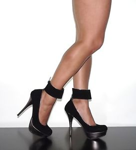 Black Heels With Thick Ankle Strap vKIqJ8GR