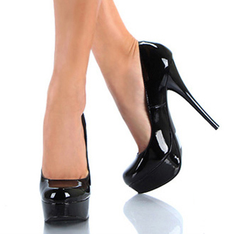 Black High Heel Platform Pumps KKHAP6IM