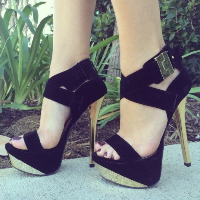 Black High Heel Shoes With Ankle Strap WhbTa2zk
