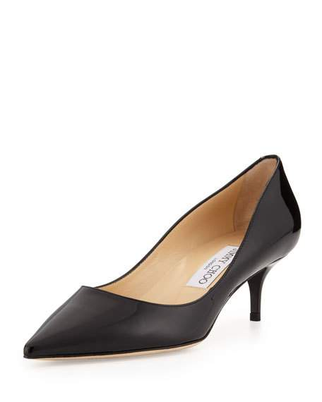 Black Leather Pumps Low Heel ql1ECtrH