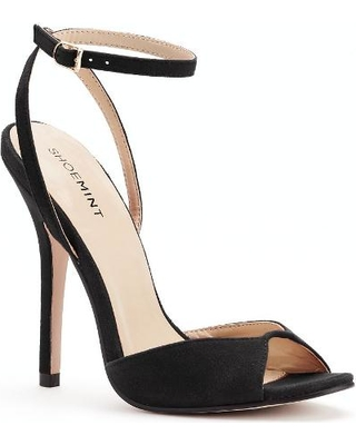 Black Peep Toe Heels With Ankle Strap Wn5YknRv