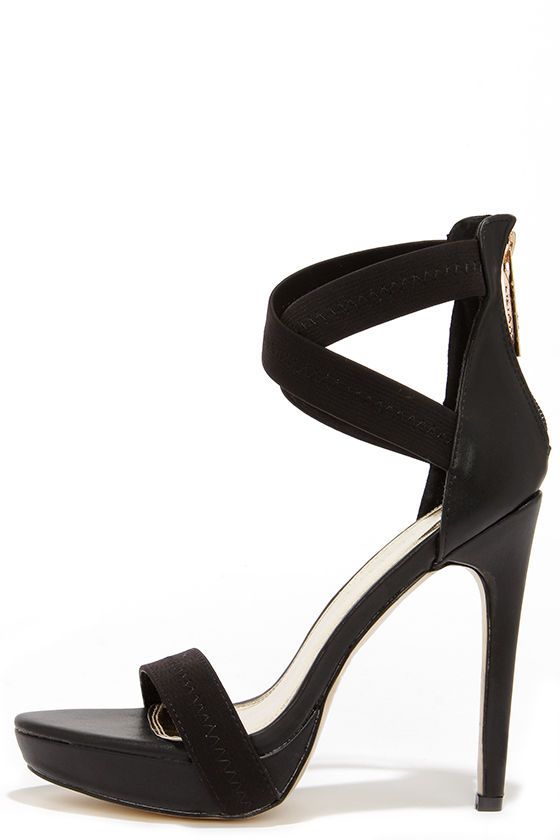 Black Platform Heels With Ankle Strap DPpEoAHc