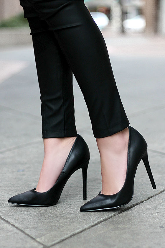 Black Pointed Heels 5VOe2U0X