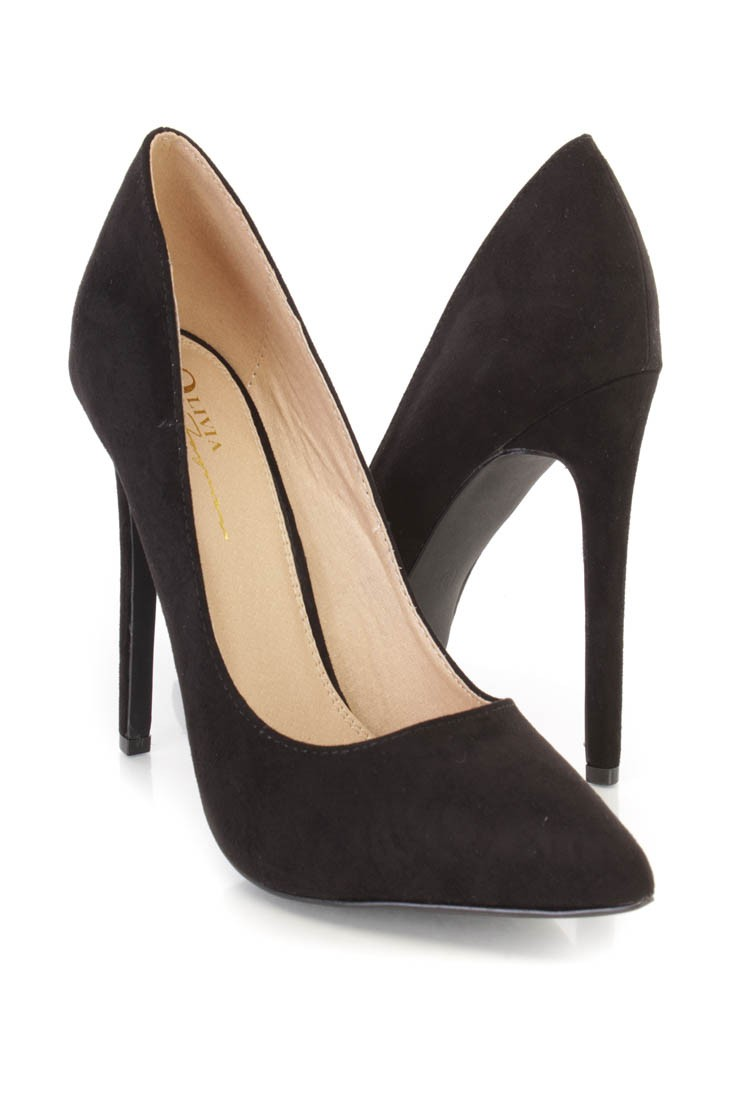 Black Pointed Heels 47xswdbm