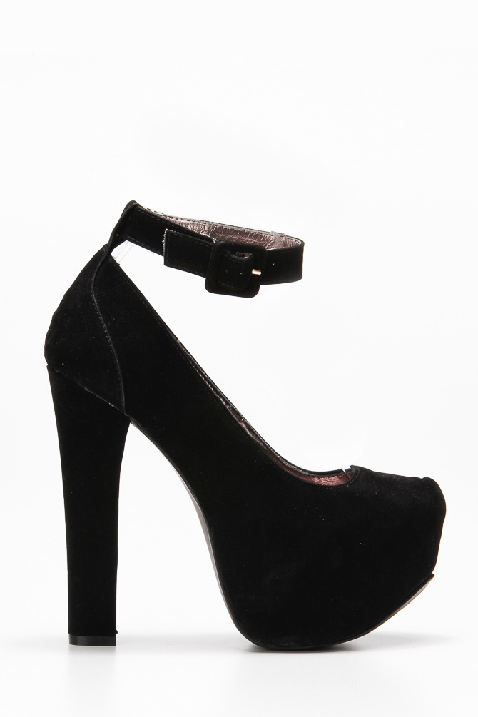 Black Pumps Chunky Heel Yyx5vIkt