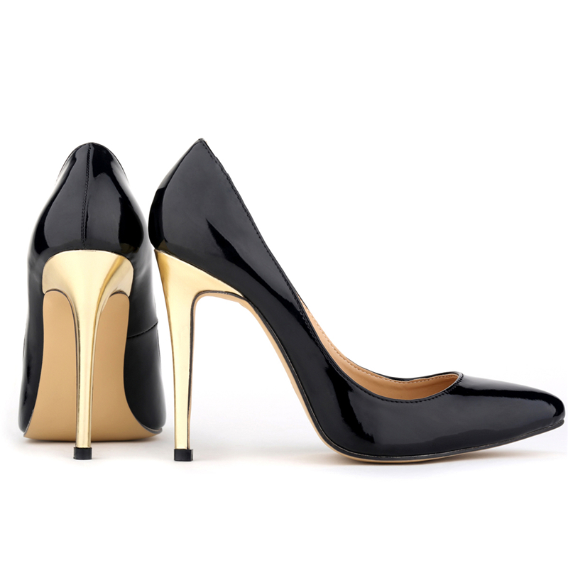 Black Pumps With Gold Heel Rwqd6PKf
