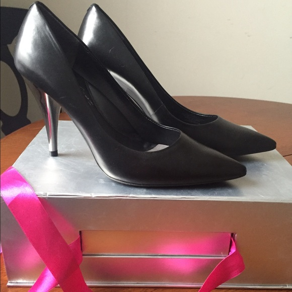 Black Pumps With Silver Heel o1VEMfID
