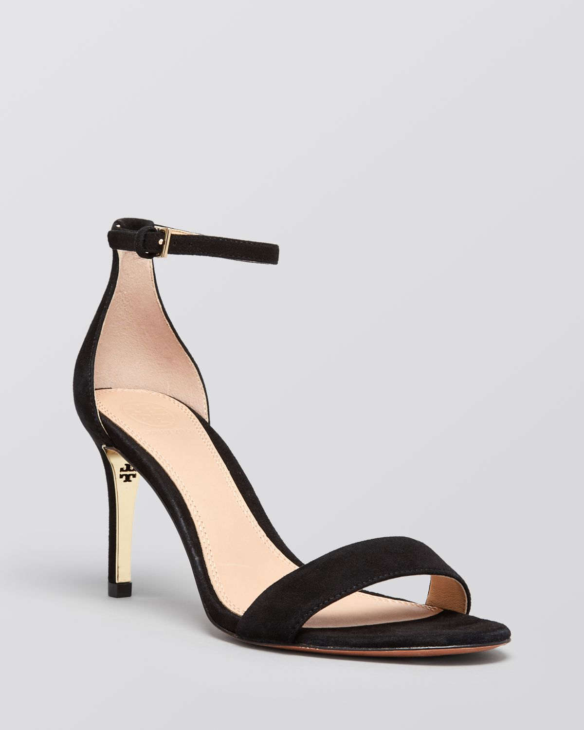 Black Sandal Heels With Ankle Strap e0Jbepgp