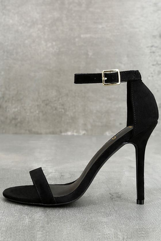 Black Sandal Heels With Ankle Strap bUG5db95