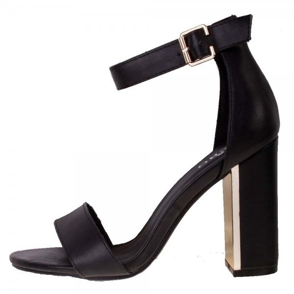 Black Sandal Heels With Ankle Strap 5aeuFgKt